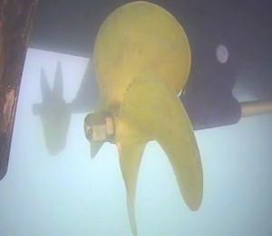 Inspeksjon av propeller, skipsskrog og ror